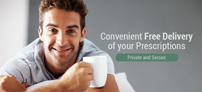 Free delivery of prescriptions to your home or office, confidential and secure