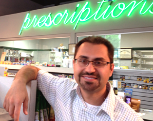 Dr. Sepehr Mansuri (Sam to his patients), Eddie's Pharmacy VP of Operations